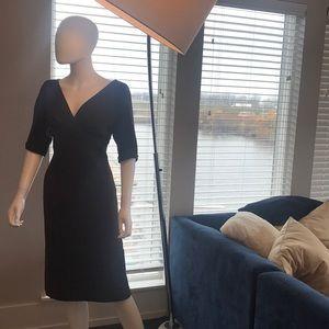 Brown Dress, 3/4 sleeve, rayon blend, designer,